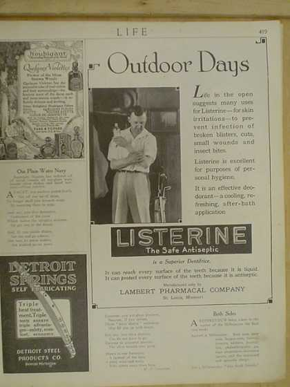 Listerine Antiseptic. Deodorant cooling after bath solution (1916)