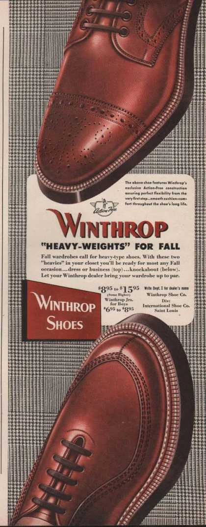 Winthrop Heavy Weight Mens Shoes (1949)