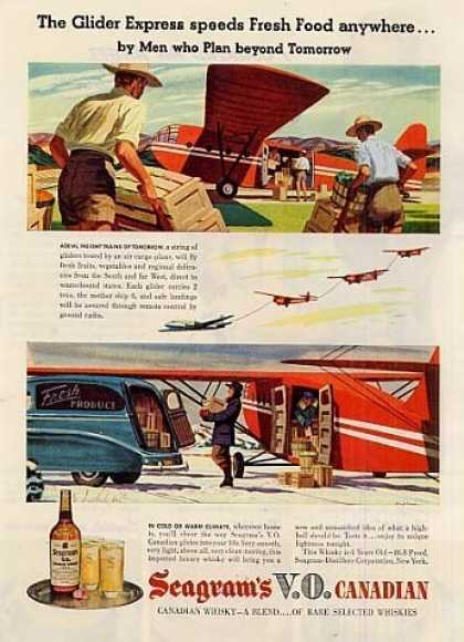 "Seagram's Vo Canadian Whiskey Ad ""The Glider... (1946)"