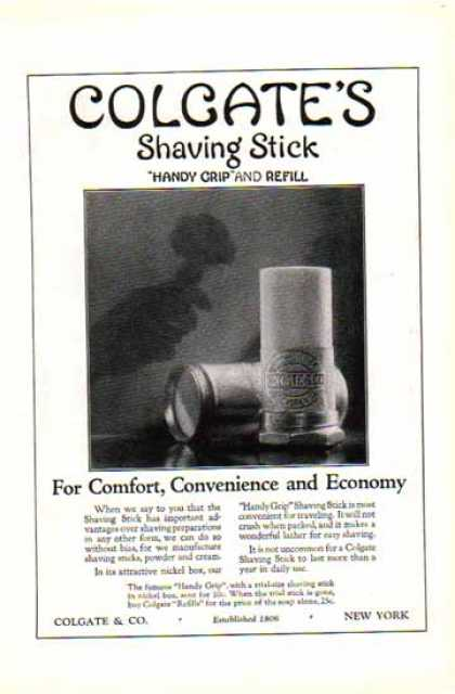 Colgate Shaving Stick – Handy Grip and Refill (1924)