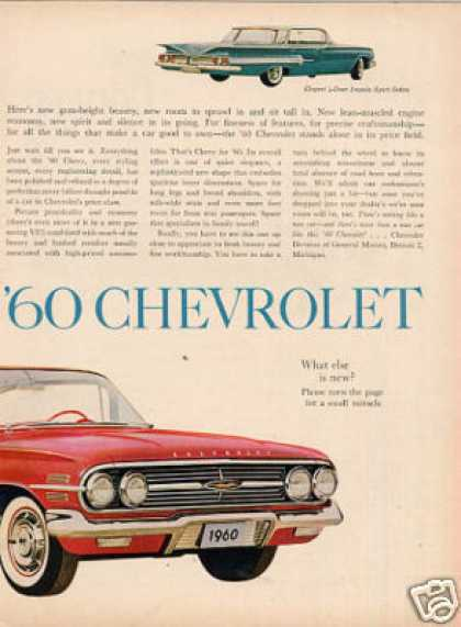 Chevrolet Impala Sport Coupe Ad 2 Page (1960)