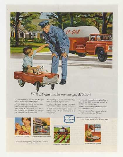 LP Gas Truck Man Boy Pedal Car (1965)