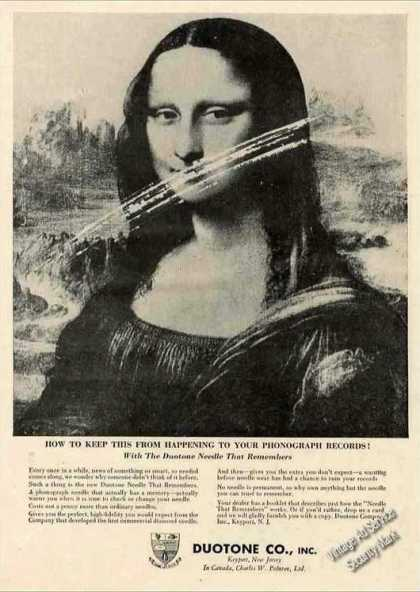 Duotone Phonograph Needles Mona Lisa (1957)