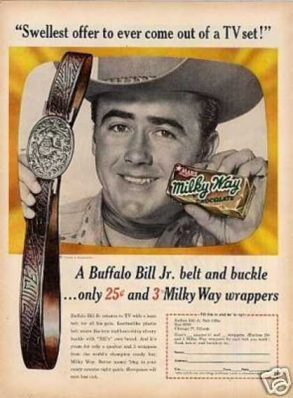 Milky Way Candy Car Ad Buffalo Bill Jr. (1955)