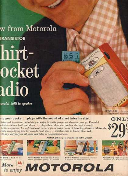 Motorola's All-Transistor Shirt-Pocket Radio (1959)