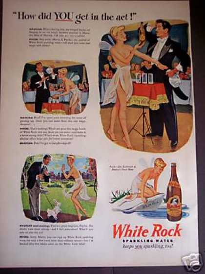 White Rock Sparkling Water Psyche the Fairy Art (1946)