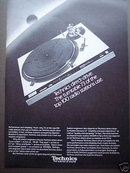 Technics Direct Drive Record Turntable (1980)