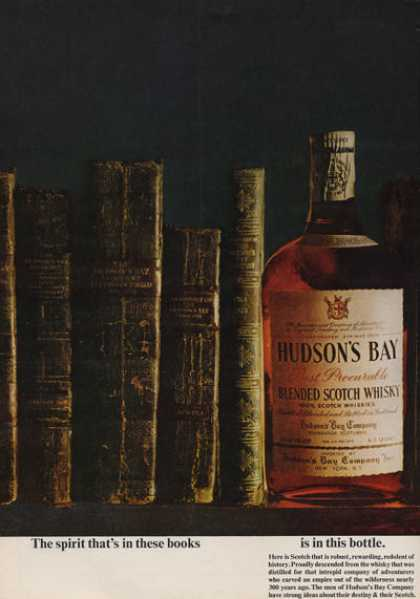 Hudson's Bay Scotch Whisky Print (1962)