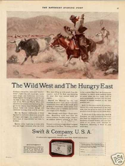 "Swift & Company Ad ""The Wild West... (1924)"