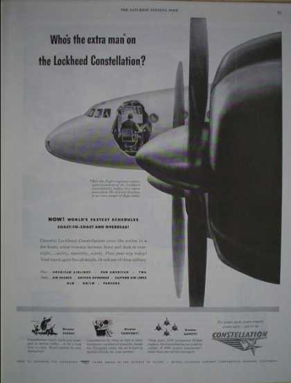 Lockheed Constellation Airplane AND Smith Corona Typewriter (1946)