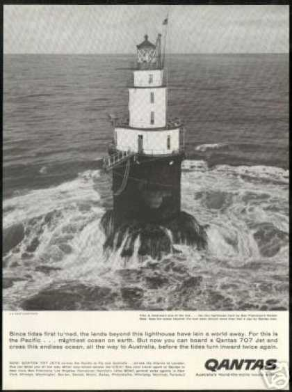 Qantas Airlines San Francisco Lighthouse Photo (1959)
