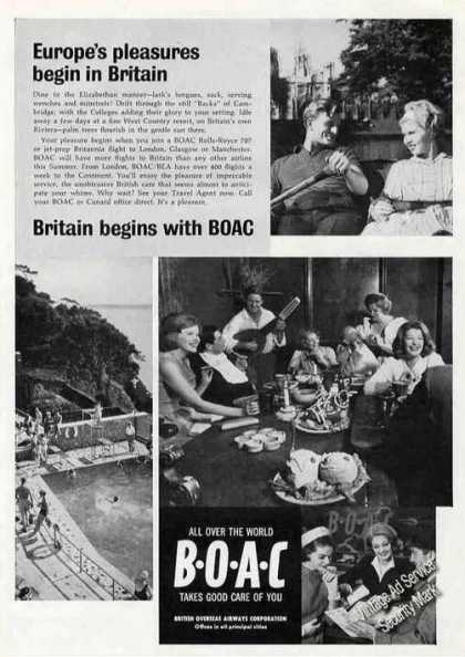 Europe Begins With Boac Britain Photos Travel (1963)