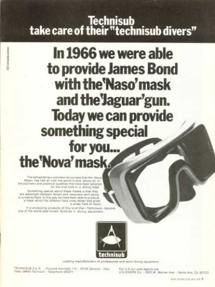 Technisub Mask Scuba Diver Diving (1978)
