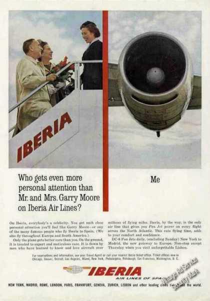 Garry Moore & Wife On Iberia Airlines of Spain (1963)