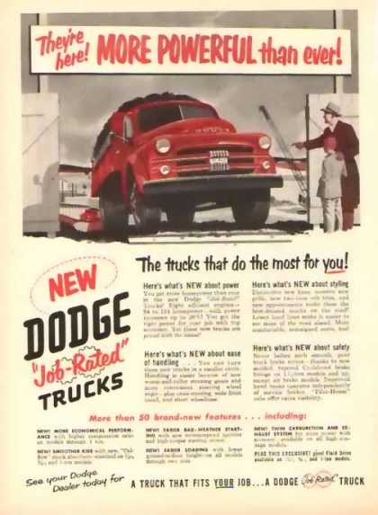 Dodge Trucks – More Powerful (1951)