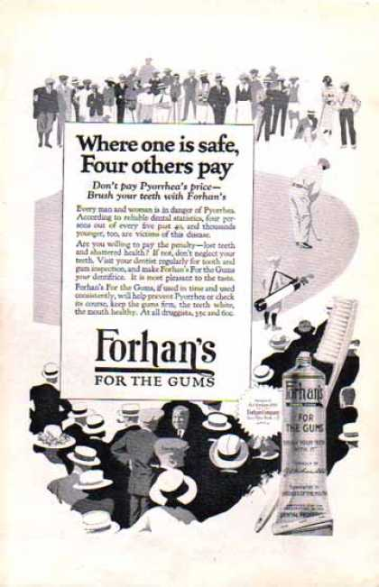 Forhan's For Gums – Brush with Forhan's – Toothpaste (1924)