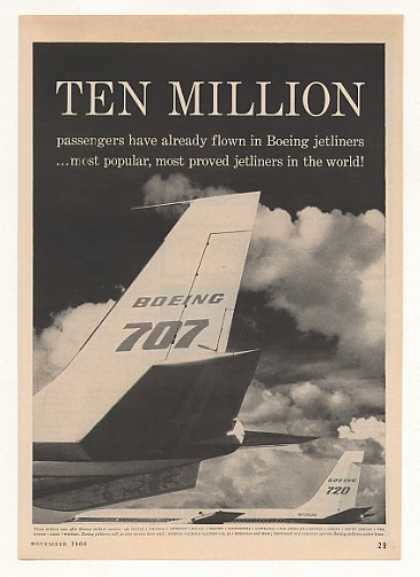 Boeing 707 720 Jetliner Ten Million Passengers (1960)