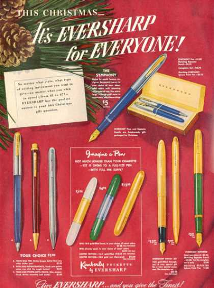 Eversharp Pen Pencil Kimberly Pockette (1948)