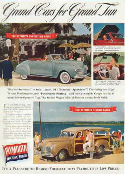Plymouth Station Wagon & Sportsmen Car (1940)