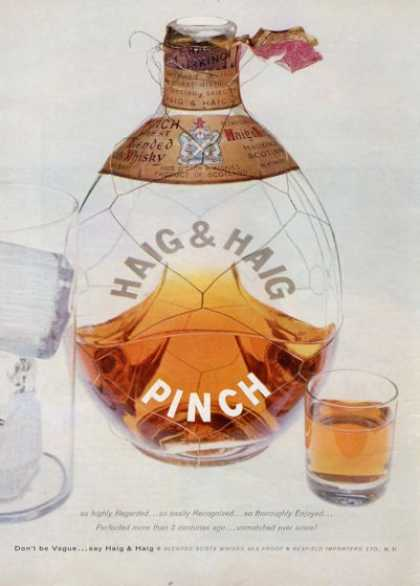 Haig & Haig Pinch Whisky Scotch (1955)