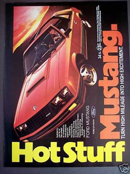 Ford Mustang T Roof Hot Stuff Car Photo (1981)