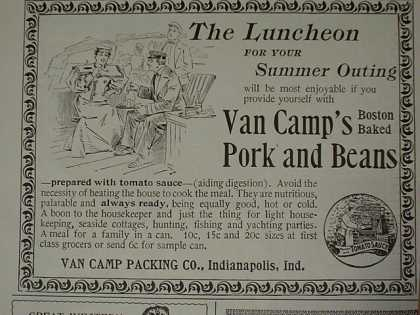 Pabst Malt Extract Beer Van Camps Pork Beans Great Western Champagne Hires root beer (1896)