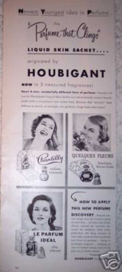 Houbigant Perfume That Clings Chantilly (1953)
