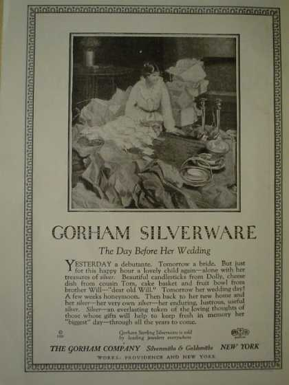 The Gorham Silver company The day before her wedding (1920)