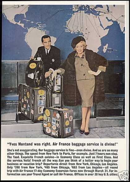 Air France Airlines Marlene Dietrich Luggage (1960)
