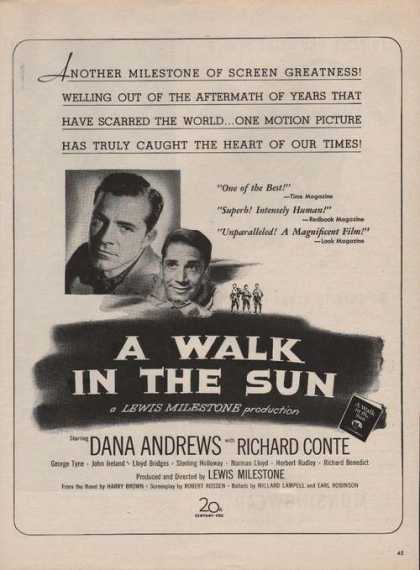 Dana Andrews a Walk In the Sun Movie Print (1946)