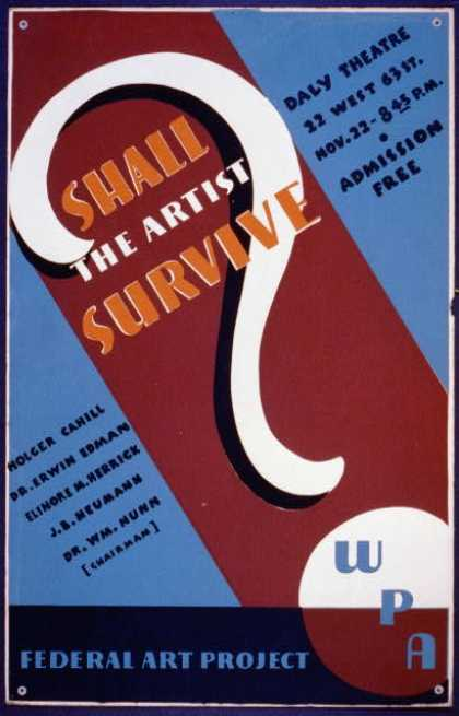 Shall the artist survive?. (1936)
