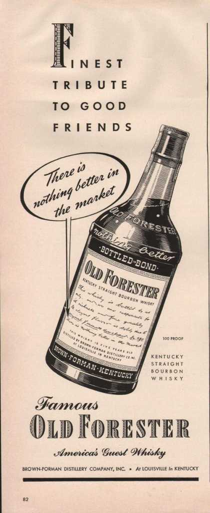 Old Forester Bourbon Whisky (1942)