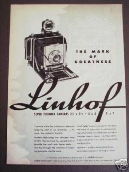 Linhof Super Technika Folding Cameras Original (1954)