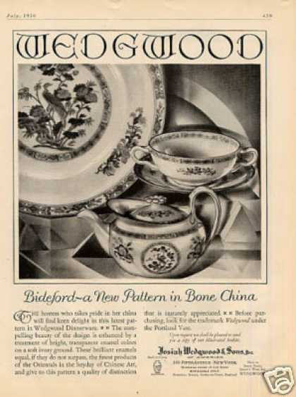 Wedgwood China Ad Bideford Pattern (1930)