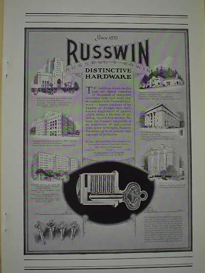 Russwin Russell Erwin Hardware Hotel Manger NY US national bank Portland Oregon (1926)