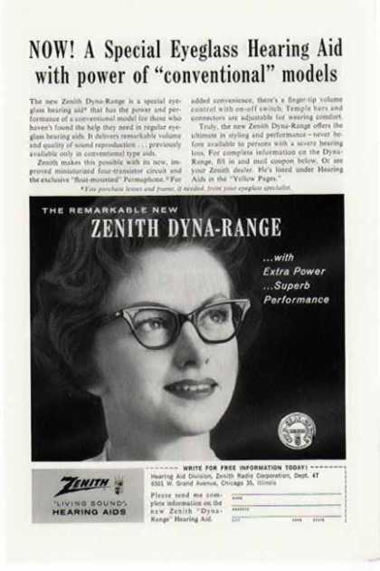 Zenith – Living Sounds Hearing Aids – Dyna Range (1961)
