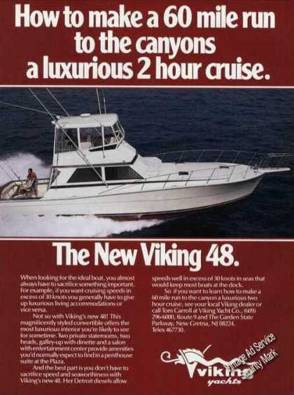 Viking 48 New Gretna Nj Boat Advertising (1985)