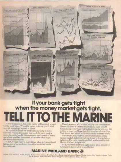Marine Midland – Money Markets get negative (1976)