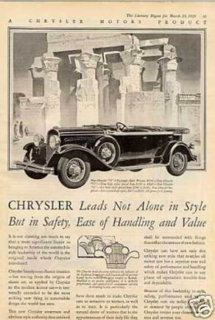 Chrysler Car Ad 2 Page (1929)
