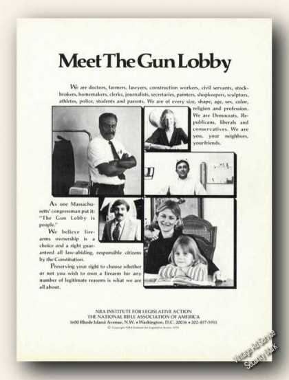 Meet the Gun Lobby Nra Promo Ad Gun Rifle (1978)