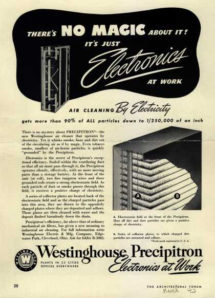 Westinghouse Electric & Manufacturing Company's Precipitron – There's No Magic About It! It's Just Electronics At Work (1943)