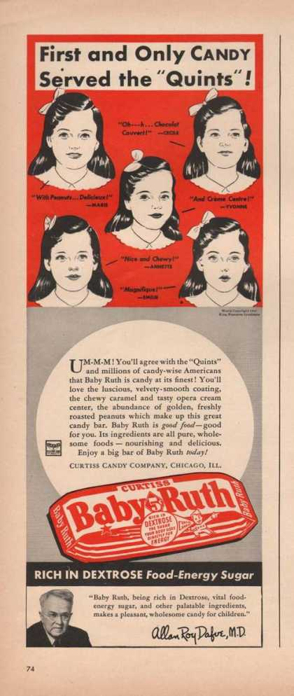Curtiss Baby Ruth Candy Bar (1941)