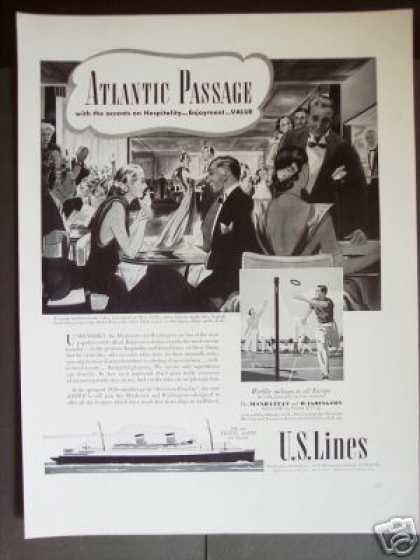 U.s. Lines Cruise Ships Travel (1939)