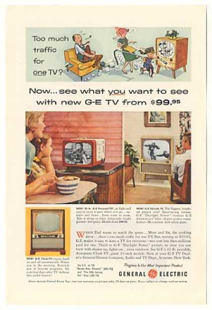 GE General Electric Personal 24-inch Clock TV (1955)