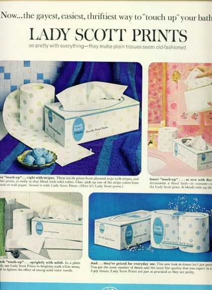 Lady Scott Prints Toilet Paper & Tissues (1965)