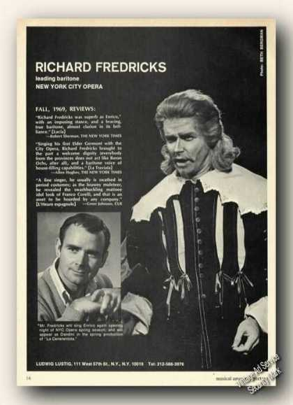 Richard Fredricks Photo Opera Ad Music (1970)