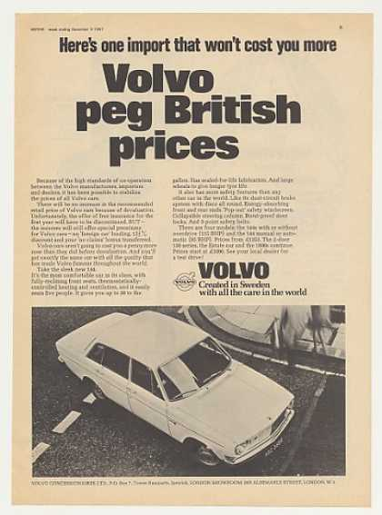 Volvo 144 No Price Increase British (1967)