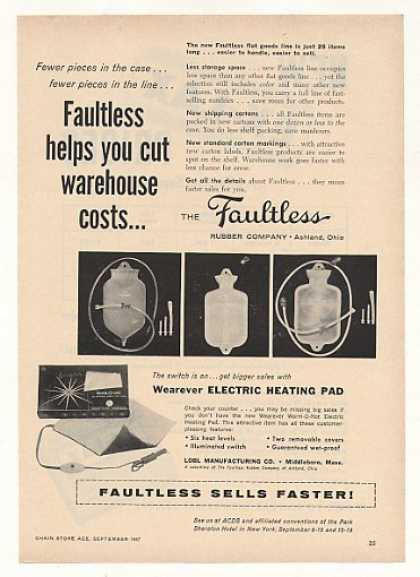 Faultless Rubber Syringe Water Bottle Pad Trade (1957)