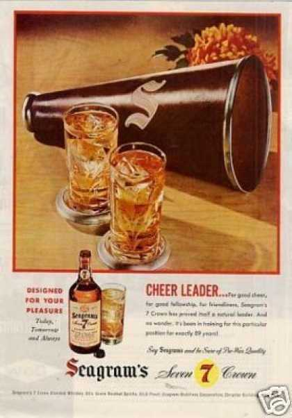 "Seagram's 7 Crown Whiskey Ad ""Cheer Leader... (1946)"