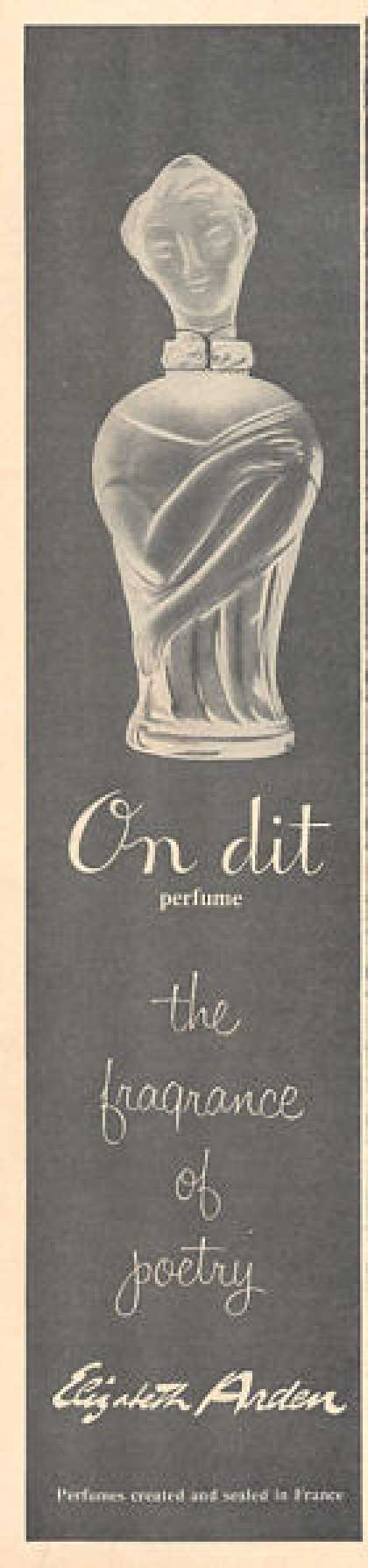 Elizabeth Arden On Dit Perfume Bottle (1957)